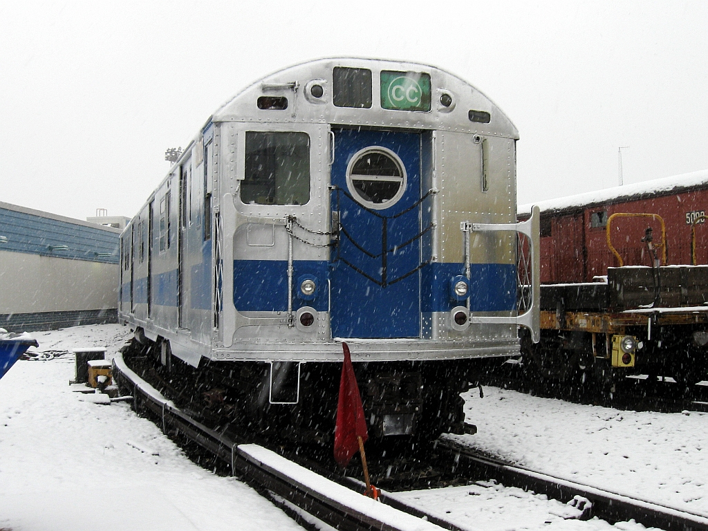 (639k, 1024x768)<br><b>Country:</b> United States<br><b>City:</b> New York<br><b>System:</b> New York City Transit<br><b>Location:</b> Coney Island Yard-Museum Yard<br><b>Car:</b> R-16 (American Car & Foundry, 1955) 6305 <br><b>Photo by:</b> John Barnes<br><b>Date:</b> 12/10/2013<br><b>Viewed (this week/total):</b> 0 / 752