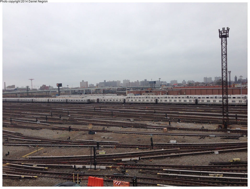 (303k, 1044x788)<br><b>Country:</b> United States<br><b>City:</b> New York<br><b>System:</b> New York City Transit<br><b>Location:</b> Coney Island Yard<br><b>Photo by:</b> Daniel Negron<br><b>Date:</b> 12/5/2013<br><b>Notes:</b> View from Tower B<br><b>Viewed (this week/total):</b> 3 / 515