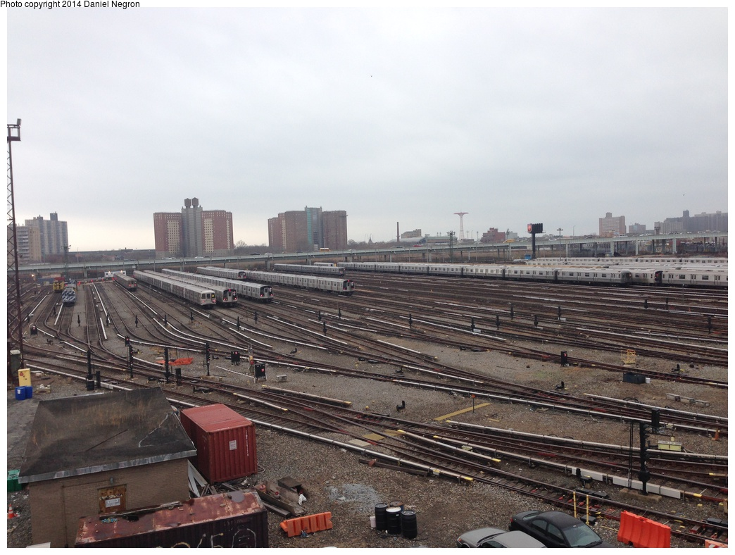 (308k, 1044x788)<br><b>Country:</b> United States<br><b>City:</b> New York<br><b>System:</b> New York City Transit<br><b>Location:</b> Coney Island Yard<br><b>Photo by:</b> Daniel Negron<br><b>Date:</b> 12/5/2013<br><b>Notes:</b> View from Tower B<br><b>Viewed (this week/total):</b> 1 / 710
