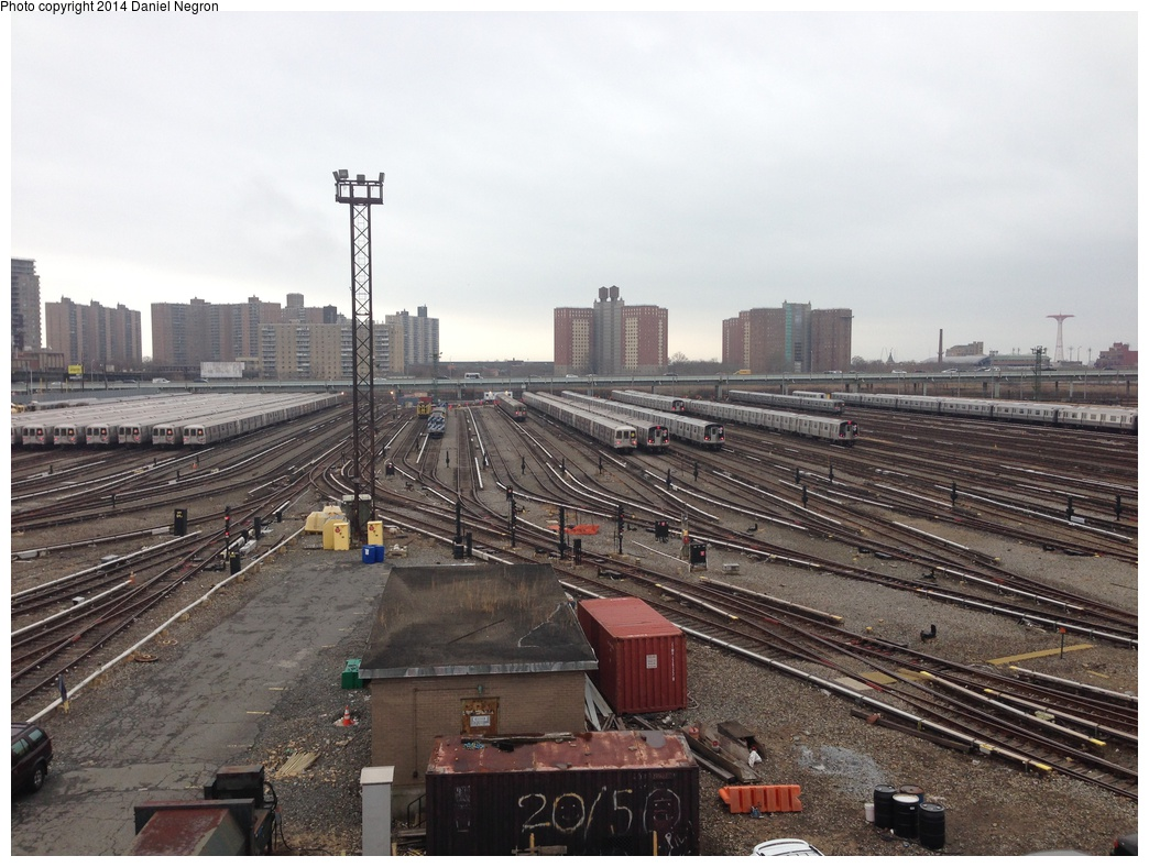 (315k, 1044x788)<br><b>Country:</b> United States<br><b>City:</b> New York<br><b>System:</b> New York City Transit<br><b>Location:</b> Coney Island Yard<br><b>Photo by:</b> Daniel Negron<br><b>Date:</b> 12/5/2013<br><b>Notes:</b> View from Tower B<br><b>Viewed (this week/total):</b> 0 / 320