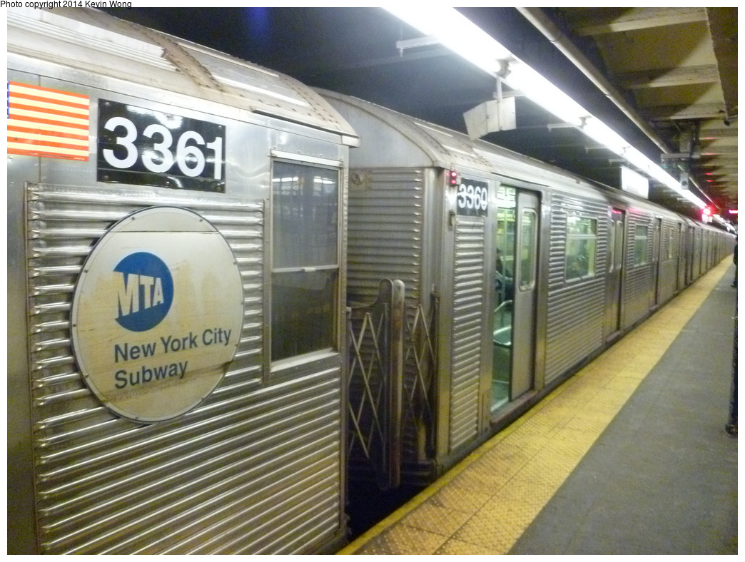 (353k, 1044x788)<br><b>Country:</b> United States<br><b>City:</b> New York<br><b>System:</b> New York City Transit<br><b>Line:</b> IND 8th Avenue Line<br><b>Location:</b> 168th Street <br><b>Route:</b> C<br><b>Car:</b> R-32 (Budd, 1964)  3360 <br><b>Photo by:</b> Kevin Wong<br><b>Date:</b> 1/25/2014<br><b>Viewed (this week/total):</b> 1 / 275