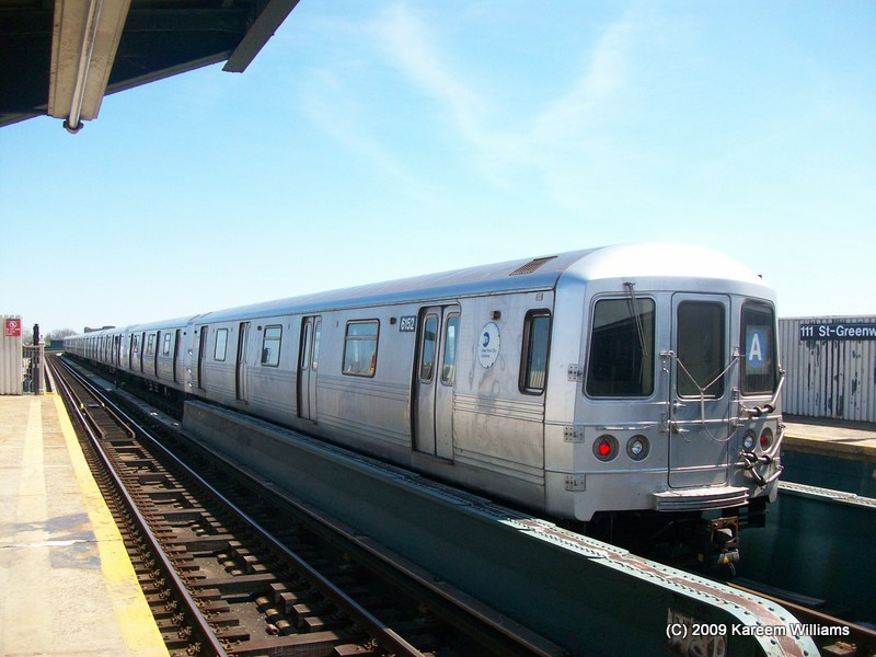 (109k, 800x600)<br><b>Country:</b> United States<br><b>City:</b> New York<br><b>System:</b> New York City Transit<br><b>Line:</b> IND Fulton Street Line<br><b>Location:</b> 111th Street/Greenwood Avenue <br><b>Route:</b> A<br><b>Car:</b> R-46 (Pullman-Standard, 1974-75) 6152 <br><b>Photo by:</b> Kareem Williams<br><b>Date:</b> 4/13/2009<br><b>Viewed (this week/total):</b> 0 / 236