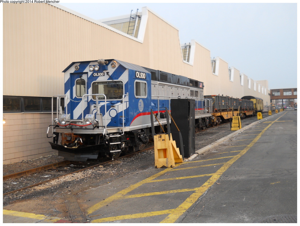 (352k, 1044x788)<br><b>Country:</b> United States<br><b>City:</b> New York<br><b>System:</b> New York City Transit<br><b>Location:</b> Coney Island Yard<br><b>Car:</b> R-156 Diesel-Electric Locomotive (MPI, 2012-2013) 930 <br><b>Photo by:</b> Robert Mencher<br><b>Date:</b> 3/12/2014<br><b>Viewed (this week/total):</b> 1 / 930