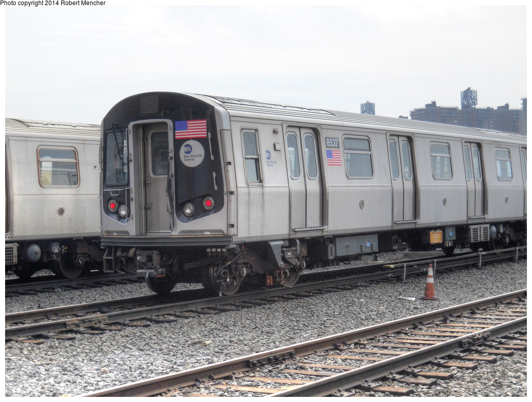(300k, 1044x788)<br><b>Country:</b> United States<br><b>City:</b> New York<br><b>System:</b> New York City Transit<br><b>Location:</b> Coney Island Yard<br><b>Car:</b> R-160A-1 (Alstom, 2005-2008, 4 car sets)  8537 <br><b>Photo by:</b> Robert Mencher<br><b>Date:</b> 3/12/2014<br><b>Viewed (this week/total):</b> 2 / 238