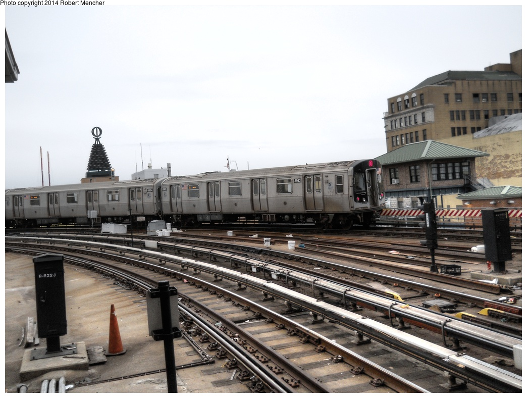 (290k, 1044x788)<br><b>Country:</b> United States<br><b>City:</b> New York<br><b>System:</b> New York City Transit<br><b>Location:</b> Coney Island/Stillwell Avenue<br><b>Route:</b> Q<br><b>Car:</b> R-160B (Kawasaki, 2005-2008)  8963 <br><b>Photo by:</b> Robert Mencher<br><b>Date:</b> 3/16/2014<br><b>Viewed (this week/total):</b> 4 / 852