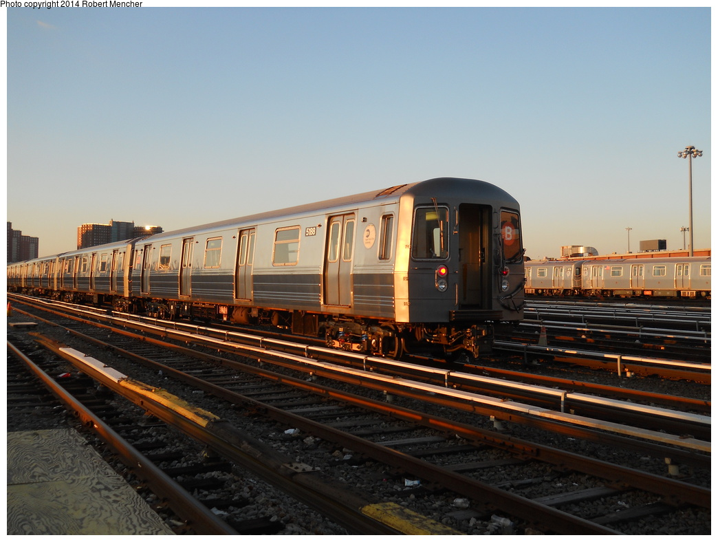 (336k, 1044x788)<br><b>Country:</b> United States<br><b>City:</b> New York<br><b>System:</b> New York City Transit<br><b>Location:</b> Coney Island Yard<br><b>Car:</b> R-68A (Kawasaki, 1988-1989)  5188 <br><b>Photo by:</b> Robert Mencher<br><b>Date:</b> 3/21/2014<br><b>Viewed (this week/total):</b> 2 / 237