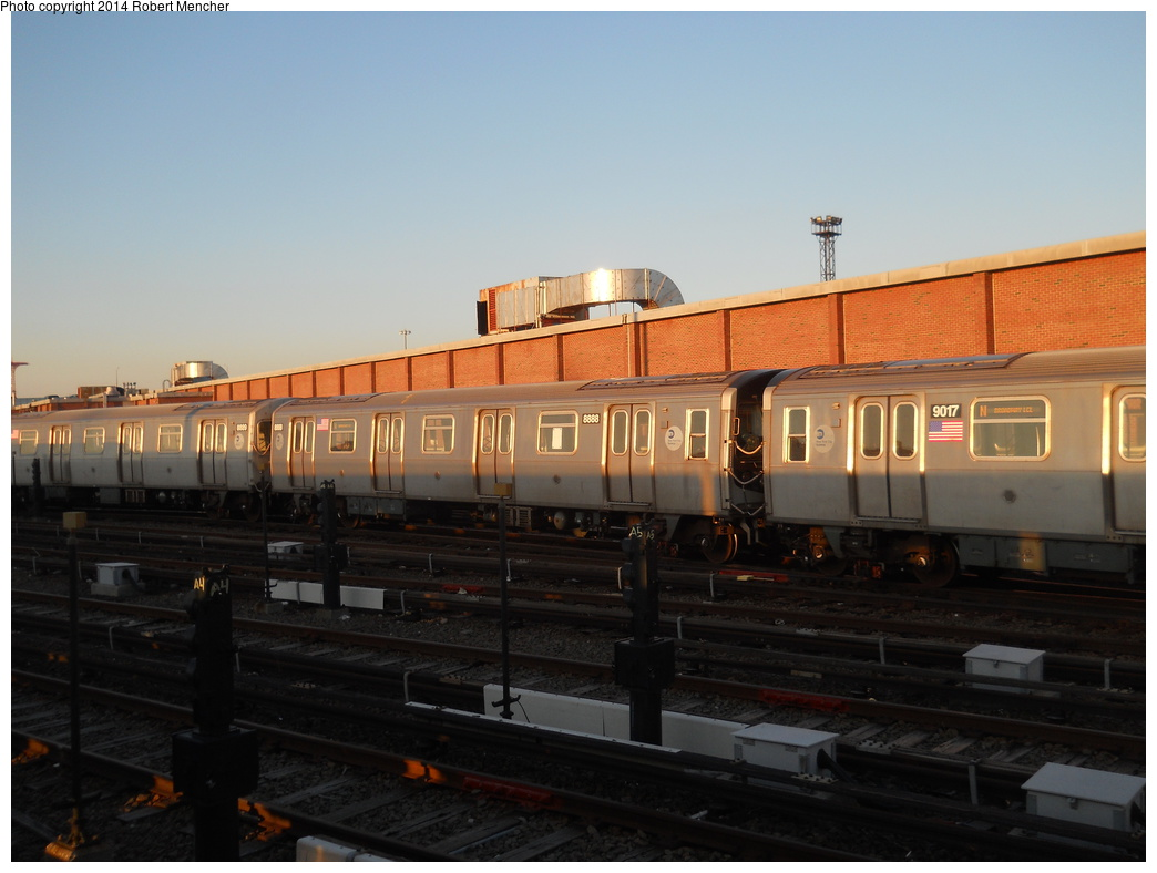 (291k, 1044x788)<br><b>Country:</b> United States<br><b>City:</b> New York<br><b>System:</b> New York City Transit<br><b>Location:</b> Coney Island Yard<br><b>Car:</b> R-160B (Kawasaki, 2005-2008)  8888 <br><b>Photo by:</b> Robert Mencher<br><b>Date:</b> 3/21/2014<br><b>Viewed (this week/total):</b> 2 / 177