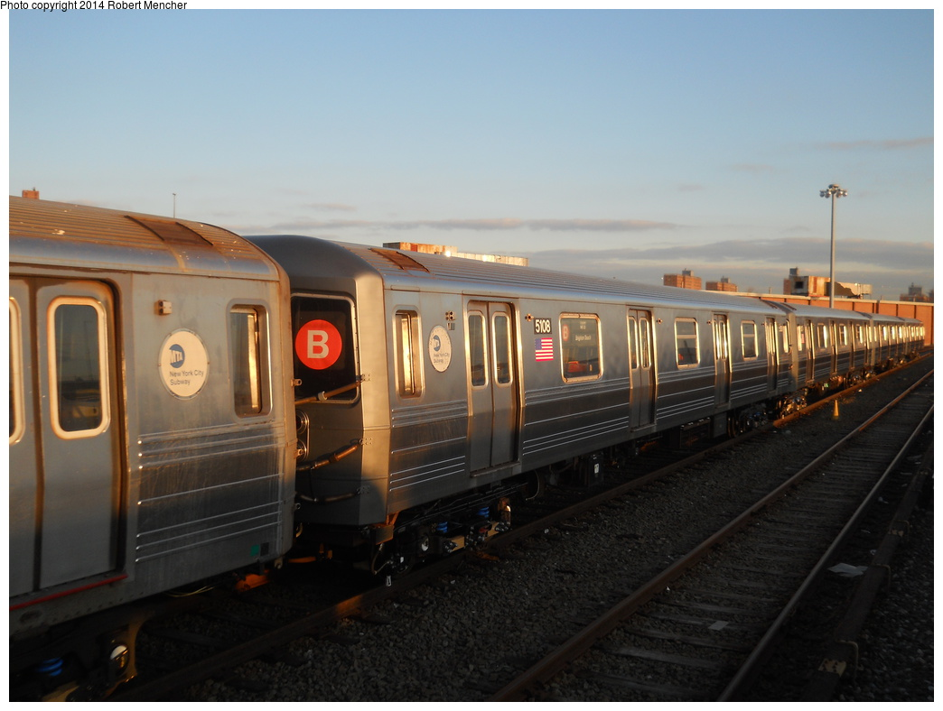 (295k, 1044x788)<br><b>Country:</b> United States<br><b>City:</b> New York<br><b>System:</b> New York City Transit<br><b>Location:</b> Coney Island Yard<br><b>Car:</b> R-68A (Kawasaki, 1988-1989)  5108 <br><b>Photo by:</b> Robert Mencher<br><b>Date:</b> 3/21/2014<br><b>Viewed (this week/total):</b> 2 / 250