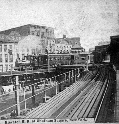 (99k, 418x436)<br><b>Country:</b> United States<br><b>City:</b> New York<br><b>System:</b> New York City Transit<br><b>Line:</b> 3rd Avenue El<br><b>Location:</b> Chatham Square <br><b>Collection of:</b> Frank Pfuhler<br><b>Viewed (this week/total):</b> 0 / 366