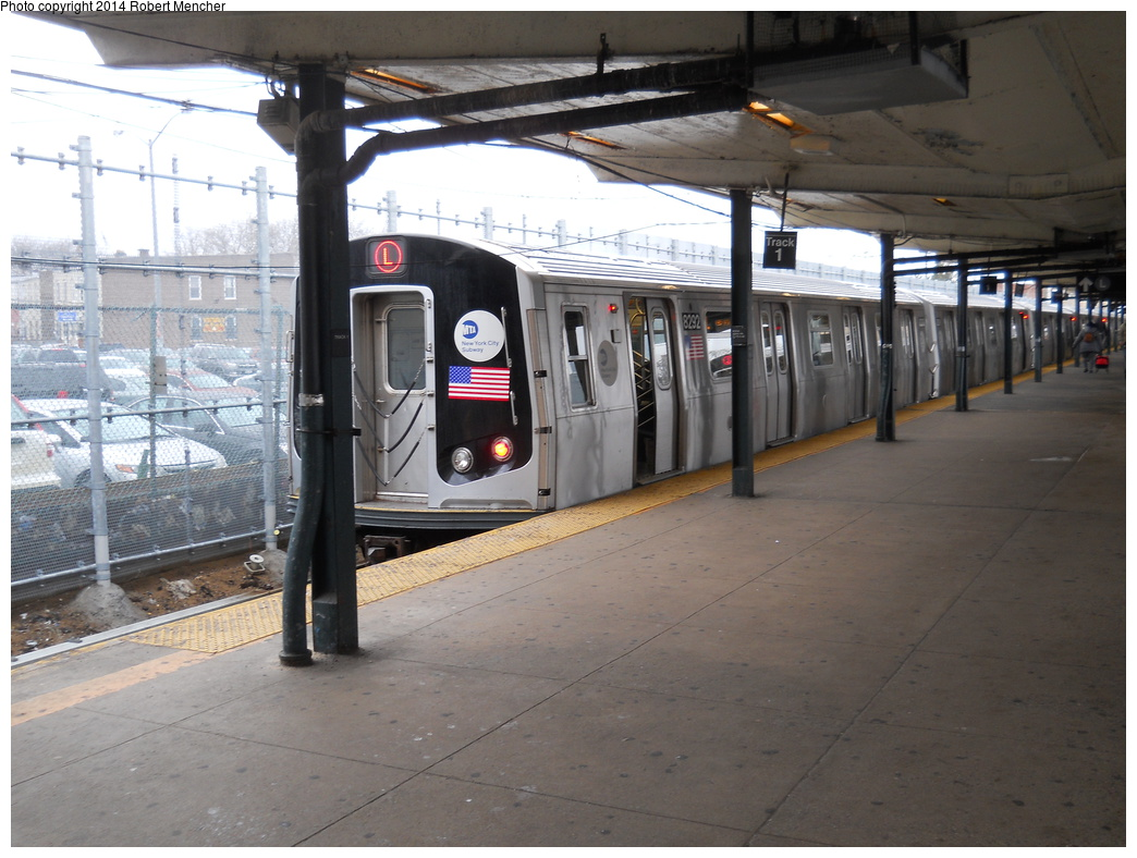 (354k, 1044x788)<br><b>Country:</b> United States<br><b>City:</b> New York<br><b>System:</b> New York City Transit<br><b>Line:</b> BMT Canarsie Line<br><b>Location:</b> Rockaway Parkway <br><b>Route:</b> L<br><b>Car:</b> R-143 (Kawasaki, 2001-2002) 8292 <br><b>Photo by:</b> Robert Mencher<br><b>Date:</b> 4/4/2014<br><b>Viewed (this week/total):</b> 1 / 914