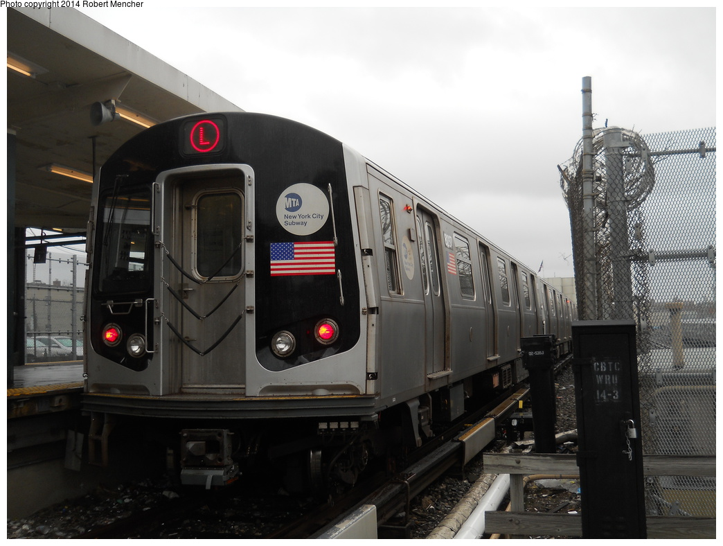 (320k, 1044x788)<br><b>Country:</b> United States<br><b>City:</b> New York<br><b>System:</b> New York City Transit<br><b>Line:</b> BMT Canarsie Line<br><b>Location:</b> Rockaway Parkway <br><b>Route:</b> L<br><b>Car:</b> R-143 (Kawasaki, 2001-2002) 8237 <br><b>Photo by:</b> Robert Mencher<br><b>Date:</b> 4/4/2014<br><b>Viewed (this week/total):</b> 8 / 541
