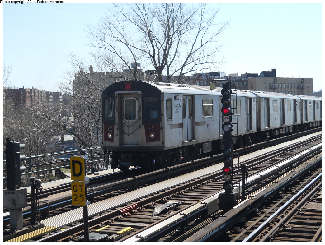 (454k, 1044x788)<br><b>Country:</b> United States<br><b>City:</b> New York<br><b>System:</b> New York City Transit<br><b>Line:</b> IRT Woodlawn Line<br><b>Location:</b> Mosholu Parkway <br><b>Route:</b> 4<br><b>Car:</b> R-142 (Option Order, Bombardier, 2002-2003)  7101 <br><b>Photo by:</b> Robert Mencher<br><b>Date:</b> 4/10/2014<br><b>Viewed (this week/total):</b> 3 / 369