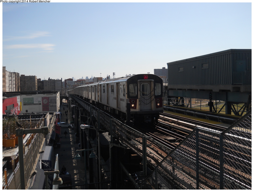 (349k, 1044x788)<br><b>Country:</b> United States<br><b>City:</b> New York<br><b>System:</b> New York City Transit<br><b>Line:</b> IRT Woodlawn Line<br><b>Location:</b> 161st Street/River Avenue (Yankee Stadium) <br><b>Route:</b> 4<br><b>Car:</b> R-142 (Option Order, Bombardier, 2002-2003)  7071 <br><b>Photo by:</b> Robert Mencher<br><b>Date:</b> 4/10/2014<br><b>Viewed (this week/total):</b> 0 / 554