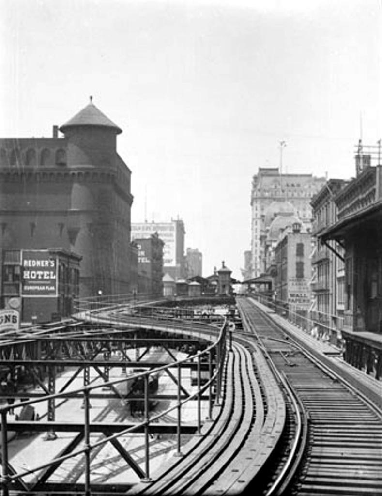 (179k, 789x1024)<br><b>Country:</b> United States<br><b>City:</b> New York<br><b>System:</b> New York City Transit<br><b>Line:</b> 3rd Avenue El<br><b>Location:</b> 67th Street <br><b>Collection of:</b> Frank Pfuhler<br><b>Date:</b> 1890<br><b>Notes:</b> View north near 69th St<br><b>Viewed (this week/total):</b> 3 / 560