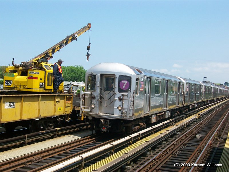 (123k, 800x600)<br><b>Country:</b> United States<br><b>City:</b> New York<br><b>System:</b> New York City Transit<br><b>Line:</b> IRT Flushing Line<br><b>Location:</b> 90th Street/Elmhurst Avenue <br><b>Route:</b> 7<br><b>Car:</b> R-62A (Bombardier, 1984-1987)  1790 <br><b>Photo by:</b> Kareem Williams<br><b>Date:</b> 5/15/2009<br><b>Viewed (this week/total):</b> 3 / 202