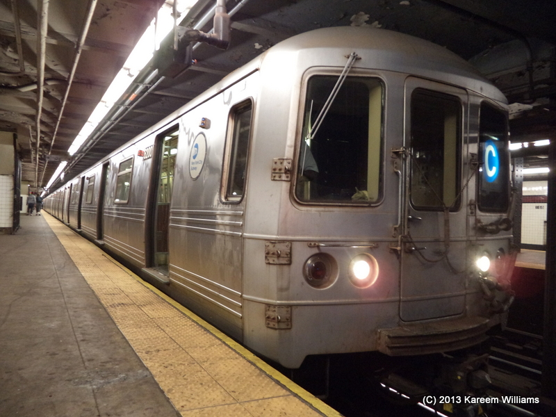 (333k, 800x600)<br><b>Country:</b> United States<br><b>City:</b> New York<br><b>System:</b> New York City Transit<br><b>Line:</b> IND 8th Avenue Line<br><b>Location:</b> 168th Street <br><b>Route:</b> C<br><b>Car:</b> R-46 (Pullman-Standard, 1974-75) 6200 <br><b>Photo by:</b> Kareem Williams<br><b>Date:</b> 7/21/2013<br><b>Viewed (this week/total):</b> 3 / 213