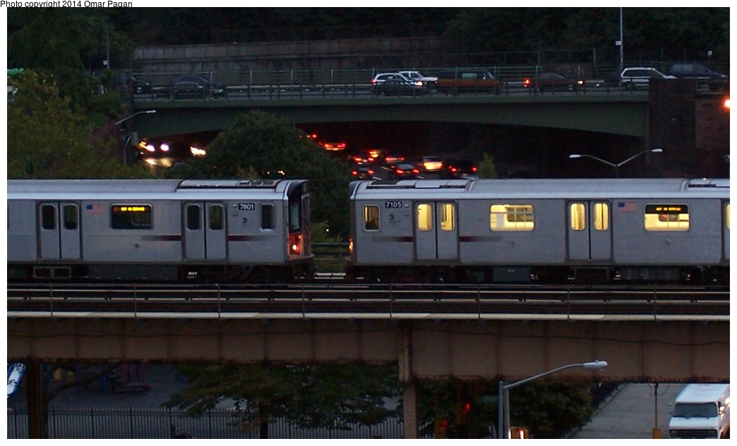 (218k, 1044x633)<br><b>Country:</b> United States<br><b>City:</b> New York<br><b>System:</b> New York City Transit<br><b>Line:</b> IRT Woodlawn Line<br><b>Location:</b> Mt. Eden Avenue <br><b>Route:</b> Layup<br><b>Car:</b> R-142 (Option Order, Bombardier, 2002-2003)  7105/7801 <br><b>Photo by:</b> Omar Pagan<br><b>Date:</b> 9/30/2006<br><b>Viewed (this week/total):</b> 4 / 430