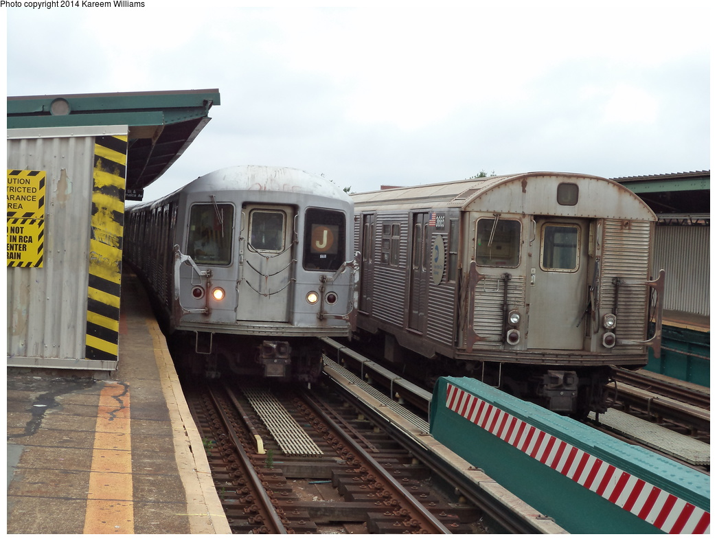 (314k, 1044x788)<br><b>Country:</b> United States<br><b>City:</b> New York<br><b>System:</b> New York City Transit<br><b>Line:</b> BMT Nassau Street/Jamaica Line<br><b>Location:</b> 111th Street <br><b>Route:</b> J<br><b>Car:</b> R-42 (St. Louis, 1969-1970)   <br><b>Photo by:</b> Kareem Williams<br><b>Date:</b> 7/28/2013<br><b>Viewed (this week/total):</b> 1 / 427