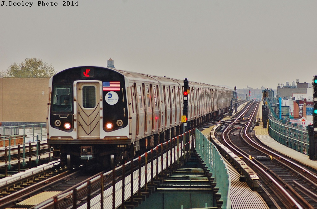 (319k, 1024x677)<br><b>Country:</b> United States<br><b>City:</b> New York<br><b>System:</b> New York City Transit<br><b>Line:</b> BMT West End Line<br><b>Location:</b> 62nd Street <br><b>Route:</b> F reroute<br><b>Car:</b> R-160A/R-160B Series (Number Unknown)  <br><b>Photo by:</b> John Dooley<br><b>Date:</b> 5/8/2014<br><b>Viewed (this week/total):</b> 3 / 251