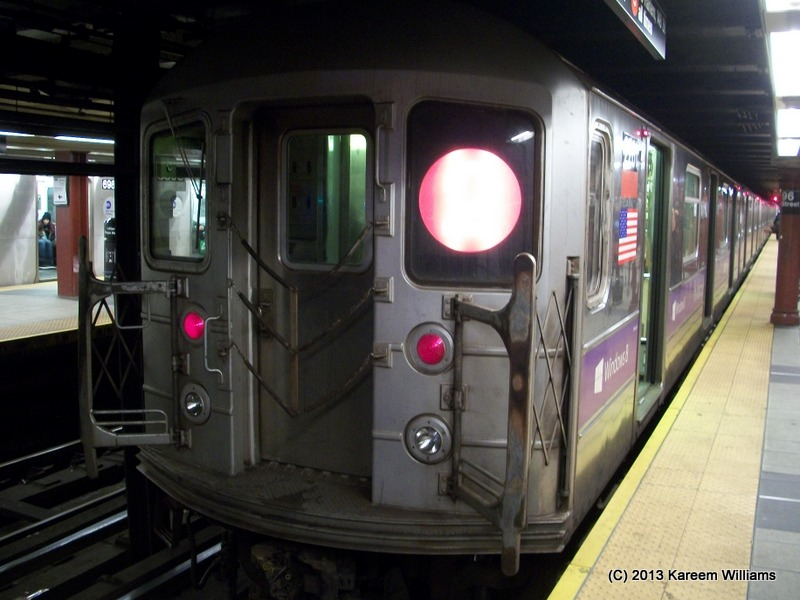 (127k, 800x600)<br><b>Country:</b> United States<br><b>City:</b> New York<br><b>System:</b> New York City Transit<br><b>Line:</b> IRT West Side Line<br><b>Location:</b> 96th Street <br><b>Route:</b> 3<br><b>Car:</b> R-62A (Bombardier, 1984-1987)  2261 <br><b>Photo by:</b> Kareem Williams<br><b>Date:</b> 3/10/2013<br><b>Viewed (this week/total):</b> 0 / 237