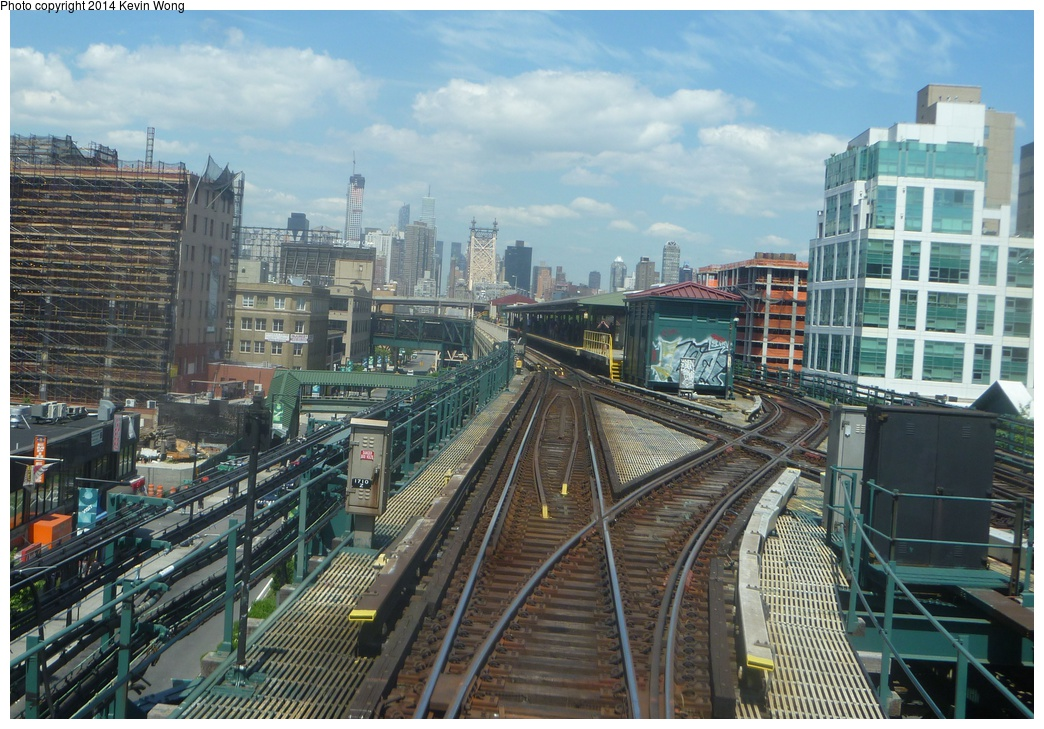 (360k, 1044x729)<br><b>Country:</b> United States<br><b>City:</b> New York<br><b>System:</b> New York City Transit<br><b>Line:</b> IRT Flushing Line<br><b>Location:</b> Queensborough Plaza <br><b>Photo by:</b> Kevin Wong<br><b>Date:</b> 6/8/2014<br><b>Notes:</b> View of upper level and crossover.<br><b>Viewed (this week/total):</b> 4 / 1332