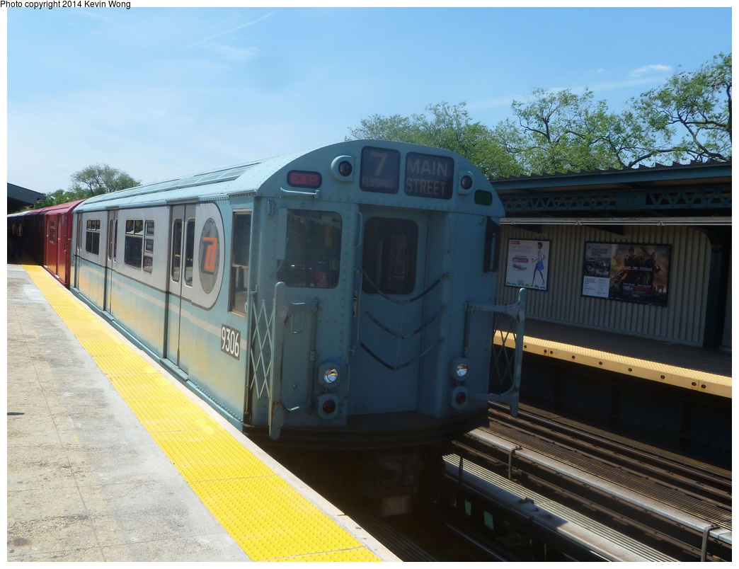 (299k, 1044x804)<br><b>Country:</b> United States<br><b>City:</b> New York<br><b>System:</b> New York City Transit<br><b>Line:</b> IRT Flushing Line<br><b>Location:</b> Willets Point/Mets (fmr. Shea Stadium) <br><b>Route:</b> Fan Trip<br><b>Car:</b> R-33 World's Fair (St. Louis, 1963-64) 9306 <br><b>Photo by:</b> Kevin Wong<br><b>Date:</b> 6/8/2014<br><b>Viewed (this week/total):</b> 0 / 328