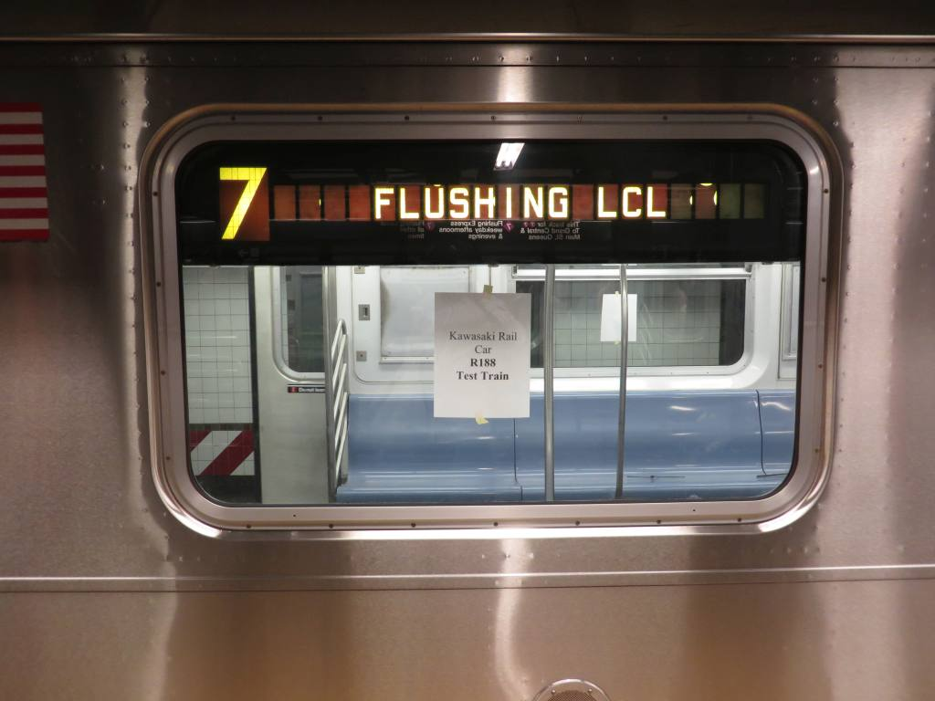 (83k, 1024x768)<br><b>Country:</b> United States<br><b>City:</b> New York<br><b>System:</b> New York City Transit<br><b>Line:</b> IRT Flushing Line<br><b>Location:</b> Times Square <br><b>Route:</b> Test<br><b>Car:</b> R-188 (R-142A Conversion, Kawasaki, 1999-2002) 7237 <br><b>Photo by:</b> Robbie Rosenfeld<br><b>Date:</b> 5/14/2014<br><b>Viewed (this week/total):</b> 2 / 934