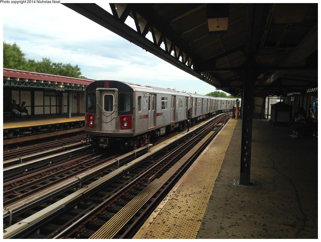 (304k, 1044x788)<br><b>Country:</b> United States<br><b>City:</b> New York<br><b>System:</b> New York City Transit<br><b>Line:</b> IRT White Plains Road Line<br><b>Location:</b> West Farms Sq./East Tremont Ave./177th St. <br><b>Route:</b> 5<br><b>Car:</b> R-142 (Primary Order, Bombardier, 1999-2002)  6726 <br><b>Photo by:</b> Nicholas Noel<br><b>Date:</b> 7/9/2014<br><b>Viewed (this week/total):</b> 3 / 512