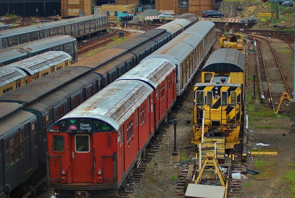 (447k, 1024x687)<br><b>Country:</b> United States<br><b>City:</b> New York<br><b>System:</b> New York City Transit<br><b>Location:</b> Concourse Yard<br><b>Car:</b> R-26 (American Car & Foundry, 1959-60) 7774 <br><b>Photo by:</b> John Dooley<br><b>Date:</b> 8/1/2014<br><b>Viewed (this week/total):</b> 0 / 880