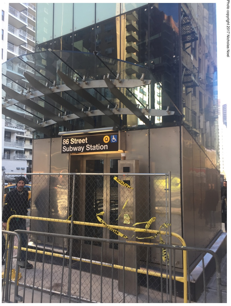 (323k, 788x1044)<br><b>Country:</b> United States<br><b>City:</b> New York<br><b>System:</b> New York City Transit<br><b>Line:</b> 2nd Avenue Subway<br><b>Location:</b> 86th Street <br><b>Photo by:</b> Nicholas Noel<br><b>Date:</b> 12/30/2016<br><b>Notes:</b> Finishing touches two days before opening.<br><b>Viewed (this week/total):</b> 9 / 367