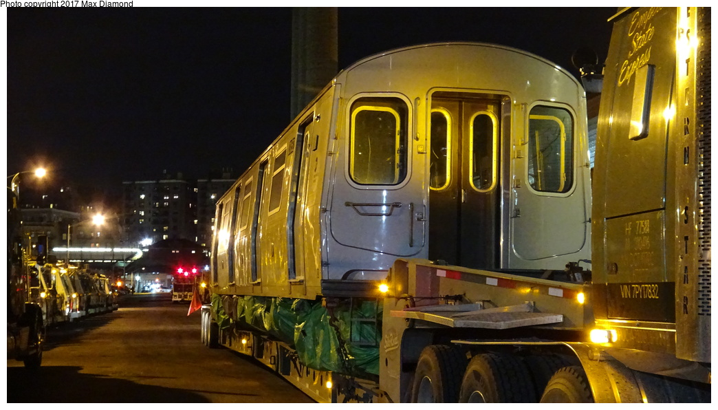(283k, 1044x596)<br><b>Country:</b> United States<br><b>City:</b> New York<br><b>System:</b> New York City Transit<br><b>Location:</b> 207th Street Yard<br><b>Car:</b> R-179 (Bombardier, 2016-) 3052 <br><b>Photo by:</b> Max Diamond<br><b>Date:</b> 12/21/2016<br><b>Notes:</b> Delivery to 207th St. Yard.<br><b>Viewed (this week/total):</b> 3 / 210