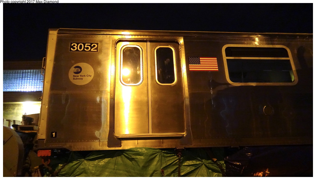 (209k, 1044x596)<br><b>Country:</b> United States<br><b>City:</b> New York<br><b>System:</b> New York City Transit<br><b>Location:</b> 207th Street Yard<br><b>Car:</b> R-179 (Bombardier, 2016-) 3052 <br><b>Photo by:</b> Max Diamond<br><b>Date:</b> 12/21/2016<br><b>Notes:</b> Delivery to 207th St. Yard.<br><b>Viewed (this week/total):</b> 5 / 308