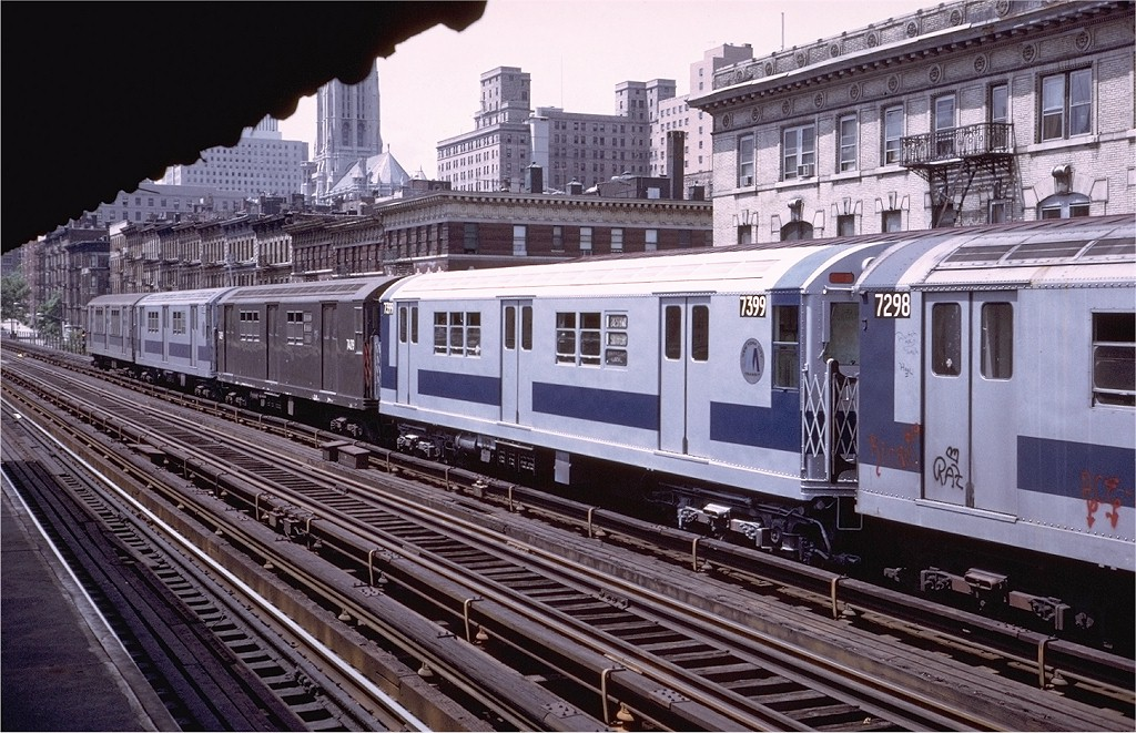 (251k, 1024x661)<br><b>Country:</b> United States<br><b>City:</b> New York<br><b>System:</b> New York City Transit<br><b>Line:</b> IRT West Side Line<br><b>Location:</b> 125th Street <br><b>Route:</b> 1<br><b>Car:</b> R-22 (St. Louis, 1957-58) 7399 <br><b>Photo by:</b> Steve Zabel<br><b>Collection of:</b> Joe Testagrose<br><b>Date:</b> 7/20/1972<br><b>Viewed (this week/total):</b> 1 / 1974