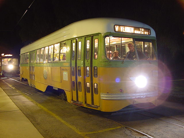 (61k, 640x480)<br><b>Country:</b> United States<br><b>City:</b> Perris, CA<br><b>System:</b> Orange Empire Railway Museum <br><b>Car:</b> PCC  3100 <br><b>Photo by:</b> Salaam Allah<br><b>Date:</b> 10/1/2000<br><b>Viewed (this week/total):</b> 12 / 2163