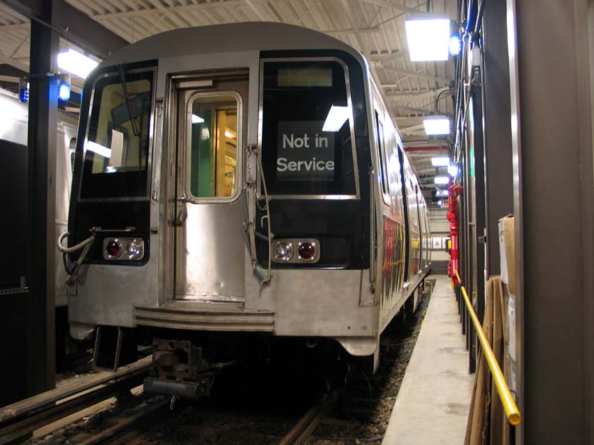 (85k, 853x640)<br><b>Country:</b> United States<br><b>City:</b> New York<br><b>System:</b> New York City Transit<br><b>Location:</b> Coney Island Yard-Training Facilities<br><b>Car:</b> R-110B (Bombardier, 1992) 3004 <br><b>Photo by:</b> Michael Pompili<br><b>Date:</b> 8/3/2004<br><b>Notes:</b> At Coney Island firefighter training school.<br><b>Viewed (this week/total):</b> 0 / 10496
