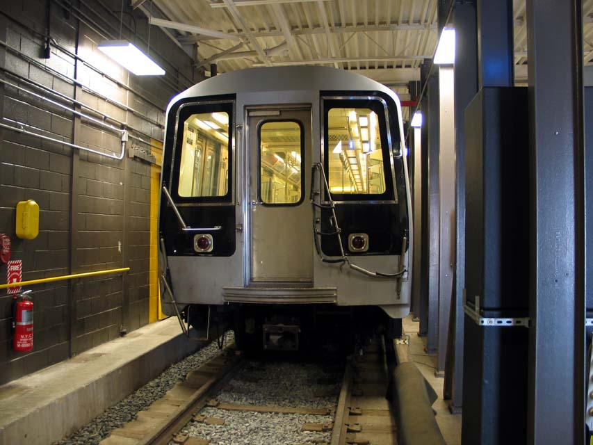 (96k, 853x640)<br><b>Country:</b> United States<br><b>City:</b> New York<br><b>System:</b> New York City Transit<br><b>Location:</b> Coney Island Yard-Training Facilities<br><b>Car:</b> R-110B (Bombardier, 1992) 3004 <br><b>Photo by:</b> Michael Pompili<br><b>Date:</b> 8/3/2004<br><b>Notes:</b> At Coney Island firefighter training school.<br><b>Viewed (this week/total):</b> 2 / 6622