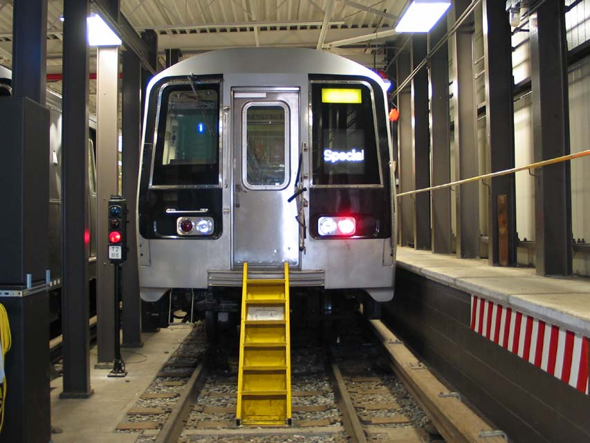 (96k, 853x640)<br><b>Country:</b> United States<br><b>City:</b> New York<br><b>System:</b> New York City Transit<br><b>Location:</b> Coney Island Yard-Training Facilities<br><b>Car:</b> R-110B (Bombardier, 1992) 3006 <br><b>Photo by:</b> Michael Pompili<br><b>Date:</b> 8/3/2004<br><b>Notes:</b> At Coney Island firefighter training school.<br><b>Viewed (this week/total):</b> 2 / 6015
