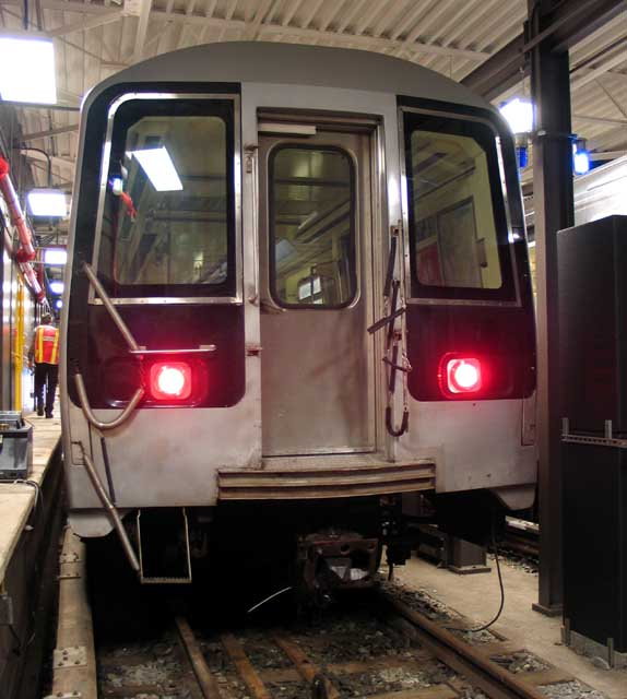 (64k, 574x640)<br><b>Country:</b> United States<br><b>City:</b> New York<br><b>System:</b> New York City Transit<br><b>Location:</b> Coney Island Yard-Training Facilities<br><b>Car:</b> R-110B (Bombardier, 1992) 3006 <br><b>Photo by:</b> Michael Pompili<br><b>Date:</b> 8/3/2004<br><b>Notes:</b> At Coney Island firefighter training school.<br><b>Viewed (this week/total):</b> 4 / 5601