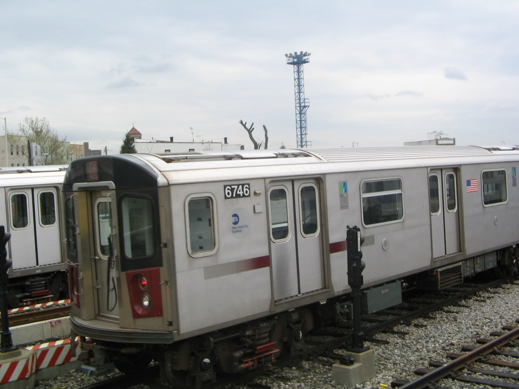 (193k, 1024x768)<br><b>Country:</b> United States<br><b>City:</b> New York<br><b>System:</b> New York City Transit<br><b>Location:</b> Unionport Yard<br><b>Car:</b> R-142 (Primary Order, Bombardier, 1999-2002)  6746 <br><b>Photo by:</b> Jose Martinez<br><b>Date:</b> 5/1/2005<br><b>Viewed (this week/total):</b> 0 / 4182