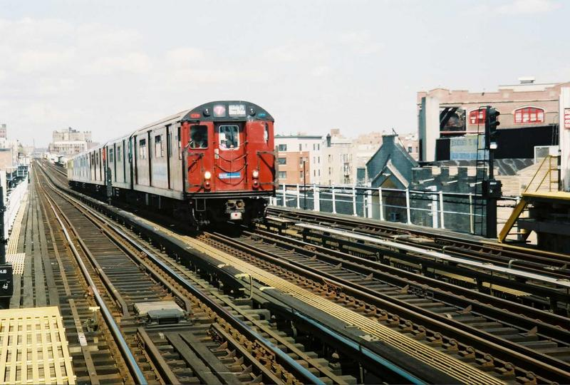 (87k, 800x540)<br><b>Country:</b> United States<br><b>City:</b> New York<br><b>System:</b> New York City Transit<br><b>Line:</b> IRT White Plains Road Line<br><b>Location:</b> Prospect Avenue <br><b>Route:</b> Fan Trip<br><b>Car:</b> R-33 World's Fair (St. Louis, 1963-64) 9327 <br><b>Photo by:</b> Gary Chatterton<br><b>Date:</b> 5/1/2005<br><b>Viewed (this week/total):</b> 0 / 2880