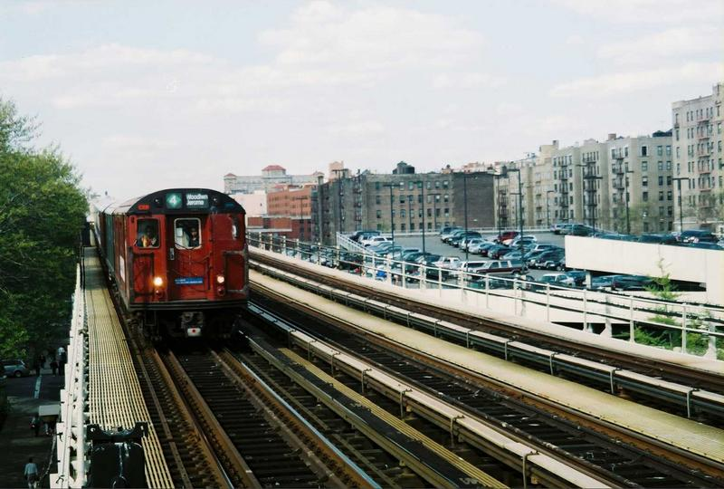 (78k, 800x540)<br><b>Country:</b> United States<br><b>City:</b> New York<br><b>System:</b> New York City Transit<br><b>Line:</b> IRT Woodlawn Line<br><b>Location:</b> 161st Street/River Avenue (Yankee Stadium) <br><b>Route:</b> Fan Trip<br><b>Car:</b> R-33 World's Fair (St. Louis, 1963-64) 9327 <br><b>Photo by:</b> Gary Chatterton<br><b>Date:</b> 5/1/2005<br><b>Viewed (this week/total):</b> 2 / 2885