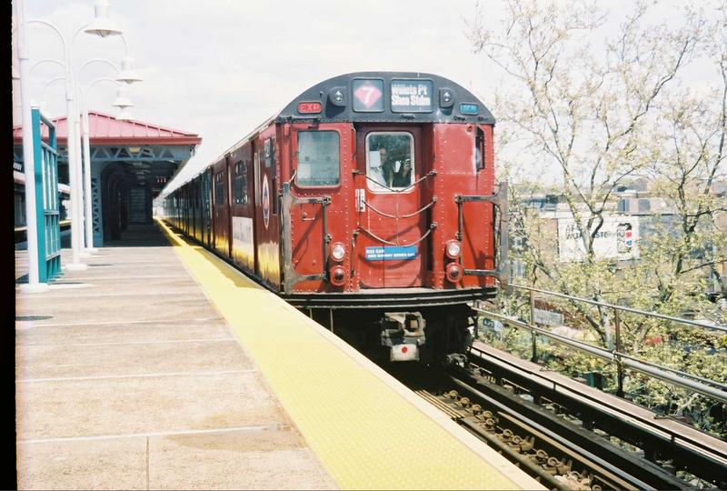 (84k, 800x540)<br><b>Country:</b> United States<br><b>City:</b> New York<br><b>System:</b> New York City Transit<br><b>Line:</b> IRT White Plains Road Line<br><b>Location:</b> Gun Hill Road <br><b>Route:</b> Fan Trip<br><b>Car:</b> R-33 World's Fair (St. Louis, 1963-64) 9327 <br><b>Photo by:</b> Gary Chatterton<br><b>Date:</b> 5/1/2005<br><b>Viewed (this week/total):</b> 3 / 2469