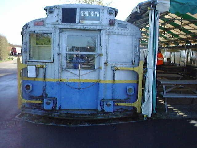 (55k, 640x480)<br><b>Country:</b> United States<br><b>City:</b> New York<br><b>System:</b> New York City Transit<br><b>Location:</b> Buckinghamshire Railway Centre<br><b>Car:</b> R-6-3 (American Car & Foundry, 1935)  1144 <br><b>Photo by:</b> Terry Walden<br><b>Collection of:</b> Phil Marsh<br><b>Date:</b> 1998<br><b>Notes:</b> Buckinghamshire Railway Centre-England. Used as a cafeteria for their museum.<br><b>Viewed (this week/total):</b> 2 / 6645