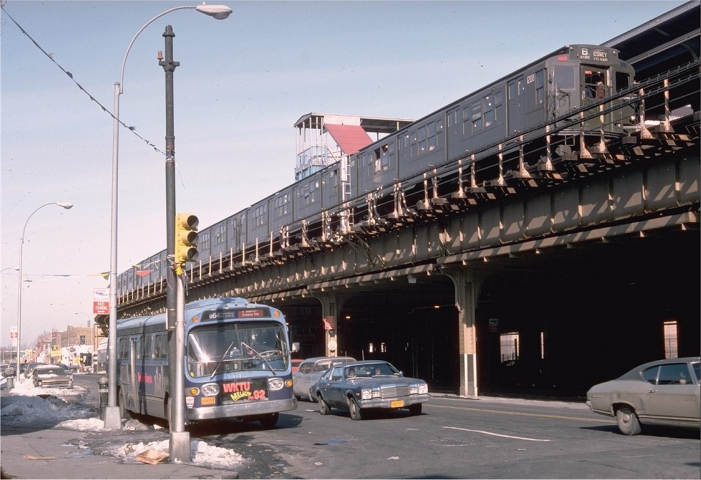(223k, 1024x701)<br><b>Country:</b> United States<br><b>City:</b> New York<br><b>System:</b> New York City Transit<br><b>Location:</b> Coney Island/Stillwell Avenue<br><b>Route:</b> Fan Trip<br><b>Car:</b> R-6-2 (Pullman, 1936)  1208 <br><b>Photo by:</b> Doug Grotjahn<br><b>Collection of:</b> Joe Testagrose<br><b>Date:</b> 1/23/1977<br><b>Viewed (this week/total):</b> 2 / 6470