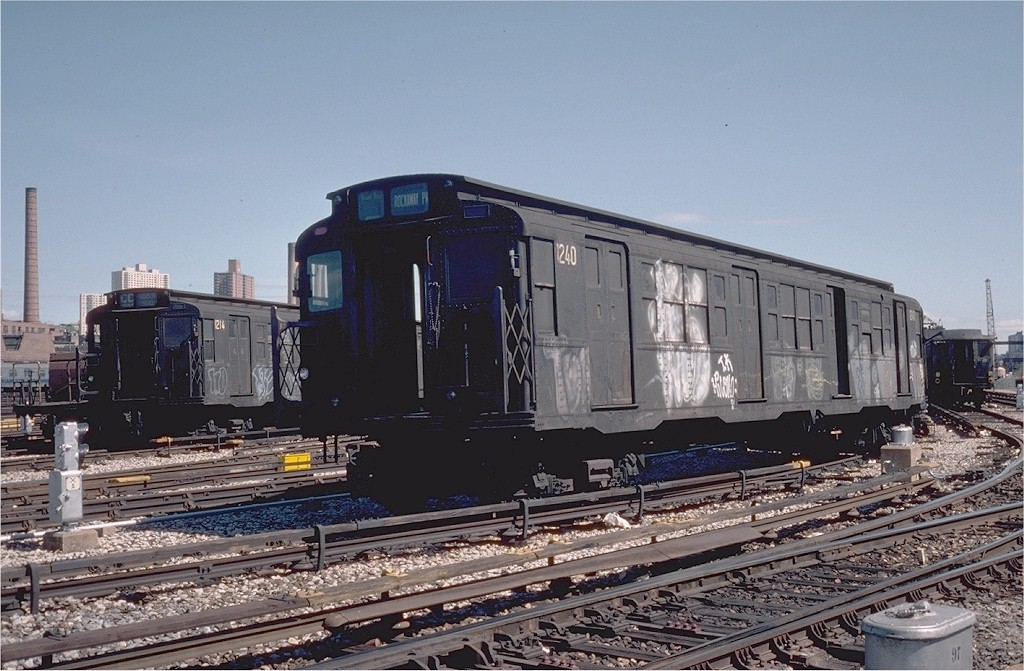 (198k, 1024x671)<br><b>Country:</b> United States<br><b>City:</b> New York<br><b>System:</b> New York City Transit<br><b>Location:</b> 207th Street Yard<br><b>Car:</b> R-6-2 (Pullman, 1936)  1240 <br><b>Photo by:</b> Steve Zabel<br><b>Collection of:</b> Joe Testagrose<br><b>Date:</b> 4/1976<br><b>Viewed (this week/total):</b> 3 / 2726