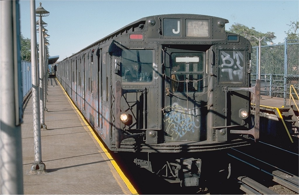 (203k, 1024x669)<br><b>Country:</b> United States<br><b>City:</b> New York<br><b>System:</b> New York City Transit<br><b>Line:</b> BMT Canarsie Line<br><b>Location:</b> New Lots Avenue <br><b>Route:</b> LL<br><b>Car:</b> R-7 (American Car & Foundry, 1937)  1432 <br><b>Photo by:</b> Ed McKernan<br><b>Collection of:</b> Joe Testagrose<br><b>Date:</b> 10/18/1976<br><b>Viewed (this week/total):</b> 1 / 3346