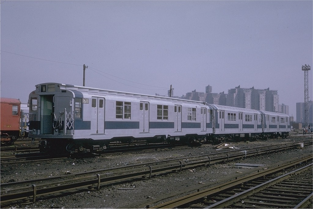 (208k, 1024x686)<br><b>Country:</b> United States<br><b>City:</b> New York<br><b>System:</b> New York City Transit<br><b>Location:</b> Coney Island Yard<br><b>Car:</b> R-7A (American Car & Foundry, 1938)  1611 <br><b>Collection of:</b> Joe Testagrose<br><b>Date:</b> 5/12/1971<br><b>Viewed (this week/total):</b> 2 / 2345