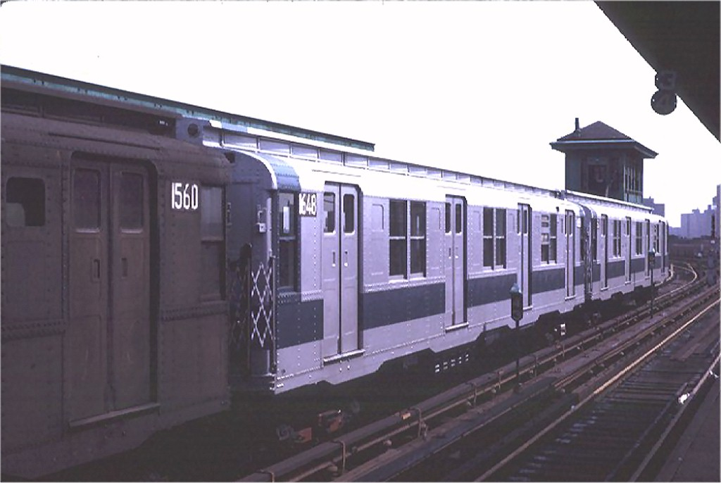 (117k, 1024x686)<br><b>Country:</b> United States<br><b>City:</b> New York<br><b>System:</b> New York City Transit<br><b>Line:</b> BMT Canarsie Line<br><b>Location:</b> Atlantic Avenue <br><b>Route:</b> L<br><b>Car:</b> R-7A (American Car & Foundry, 1938)  1648 <br><b>Photo by:</b> Joe Testagrose<br><b>Date:</b> 8/2/1970<br><b>Viewed (this week/total):</b> 2 / 2159