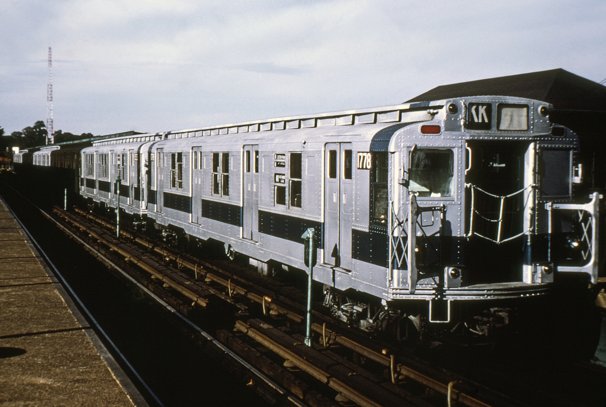 (220k, 1024x677)<br><b>Country:</b> United States<br><b>City:</b> New York<br><b>System:</b> New York City Transit<br><b>Line:</b> BMT Canarsie Line<br><b>Location:</b> Atlantic Avenue <br><b>Route:</b> KK<br><b>Car:</b> R-9 (Pressed Steel, 1940)  1778 <br><b>Photo by:</b> Doug Grotjahn<br><b>Collection of:</b> Joe Testagrose<br><b>Date:</b> 8/29/1970<br><b>Viewed (this week/total):</b> 0 / 2900