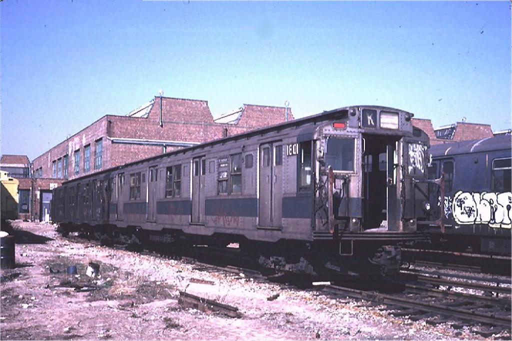 (184k, 1024x682)<br><b>Country:</b> United States<br><b>City:</b> New York<br><b>System:</b> New York City Transit<br><b>Location:</b> Coney Island Yard-Museum Yard<br><b>Car:</b> R-9 (Pressed Steel, 1940)  1801 <br><b>Photo by:</b> Steve Zabel<br><b>Collection of:</b> Joe Testagrose<br><b>Date:</b> 3/20/1974<br><b>Viewed (this week/total):</b> 7 / 6360